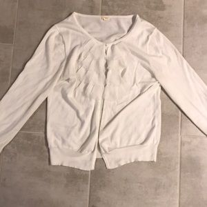 JCrew white 3/4 sleeve cardigan